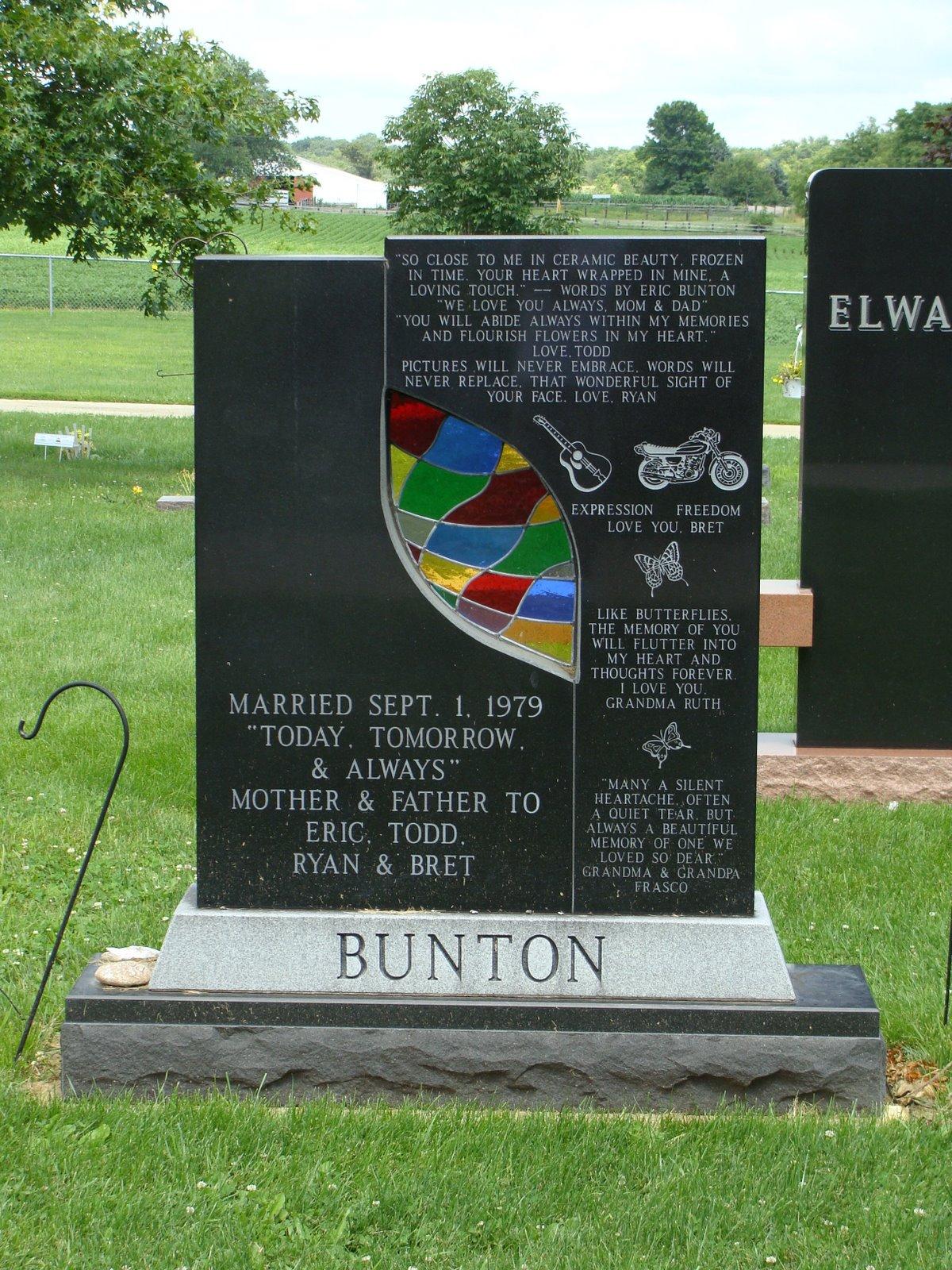 Unique Contemporary Tombstone Hirstein Cemetery Morton