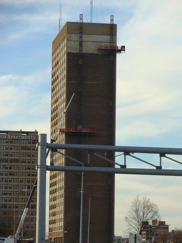 Council Tower Brick Mural Nearing Completion