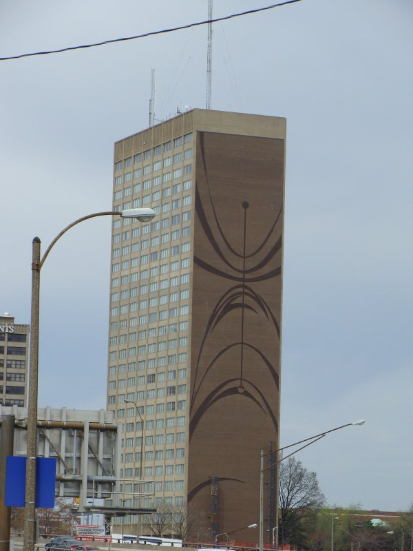 Council Tower Brick Mural Complete