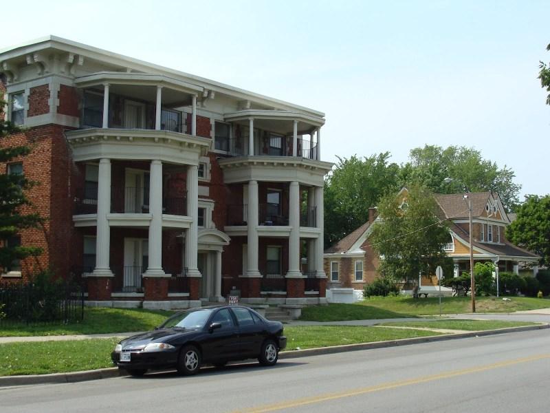 The Neighborhood Around Holy Name Church, Kansas City, Missouri